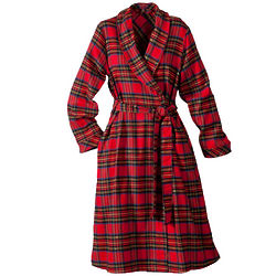 Women's Plaid Flannel Robe