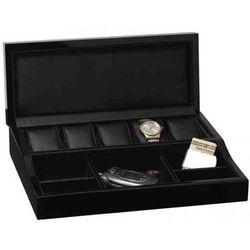 Men's Modern Ebony Valet with Jewelry and Watch Storage