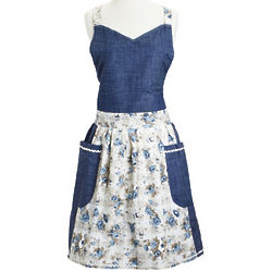 Blue Eiffel Tower Vintage-Inspired Apron
