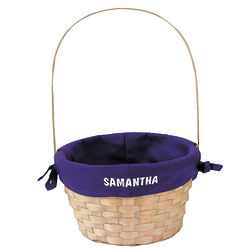 Personalized Basket with Purple Liner
