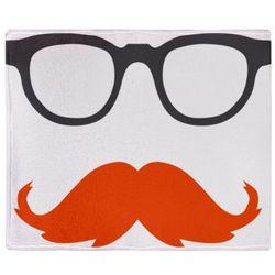 Retro Glasses and Mustache Throw Blanket