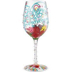Happy Friendversary Wine Glass