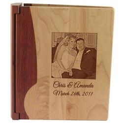 Engraved Two Tone Wood Photo Album