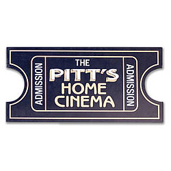 Personalized Admission Ticket Home Cinema Sign