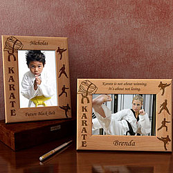 Personalized Karate and Martial Arts Wooden Picture Frame