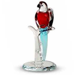 Crystal Red Parrot with Blue Tail
