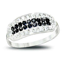 5th Avenue Black and White Diamond Ring