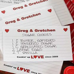 Cookin' Up Love Personalized Recipe Cards
