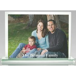 Personalized Horizontal Glass Frame