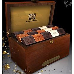Diamond Deluxe Mahogany Box of French Chocolates