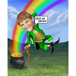 Lucky Leprechaun Caricature from Photo
