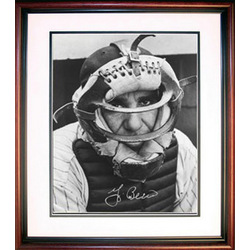 Yogi Berra Signed, Framed 8 x 10 Close-up Photo