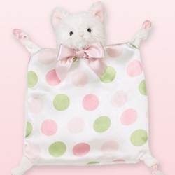 """Wee Kitty"" Polka Dot Lovie Blanket"