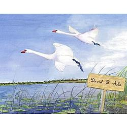 "Personalized ""Swan Lake"" Art Print"