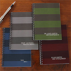 Business Stripes Personalized Mini Notebook Set