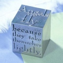 Angels Fly Inspirational Paperweight