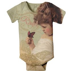 Personalized Baby Butterfly Infant Snapsuit T-Shirt