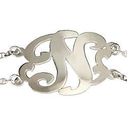 Sterling Silver Initial Monogram Bracelet