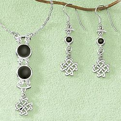 Celtic Drama Necklace and Earrings Set