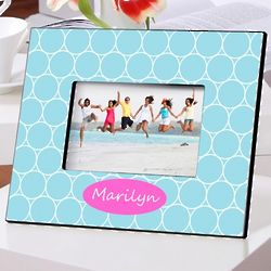 Personalized Blue Spirals Picture Frame