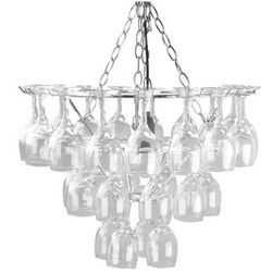 Wine Glass Chrome Chandelier