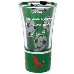 Hand-Painted Soccer Party Shot Glass
