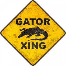 Boy's Gator Crossing Wall Sign