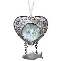 Cat Remembrance Photo Ornament