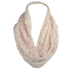 Pointelle Loop Scarf with Sequins