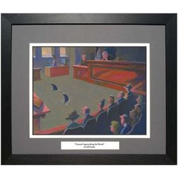 Counsel Approaching The Bench Framed Art Print