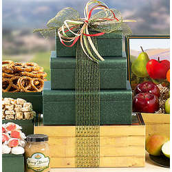 Fruit and Gourmet Snacks Gift Tower