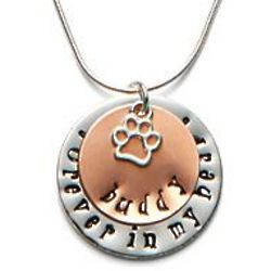 Personalized Forever in My Heart Pet Memorial Pendant