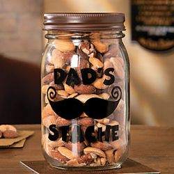 Dad's 'Stache Jar with Lid