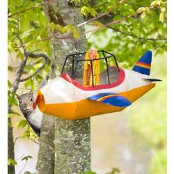 Metal Airplane Squirrel Feeder