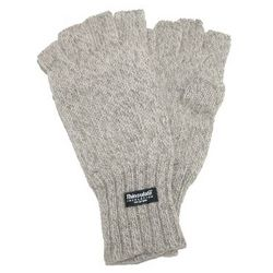Wool Fingerless Glove in Oatmeal