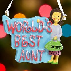 Personalized World's Best Family Member Ornaments