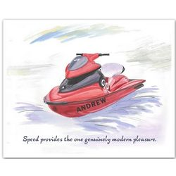 "Personalized ""Anne's Jet Skiing"" Canvas Art"
