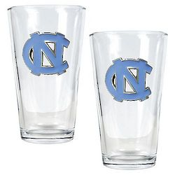 University of North Carolina Tar Heels Pint Ale Glass Set