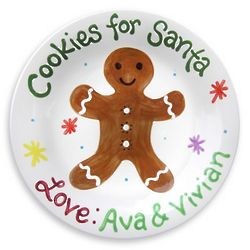 Personalized Gingerbread Cookie Plate