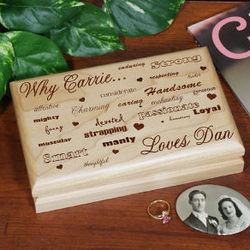 Engraved Why I Love You Valet Box