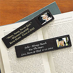 Graduation Inspirations Personalized Leather Photo Bookmark