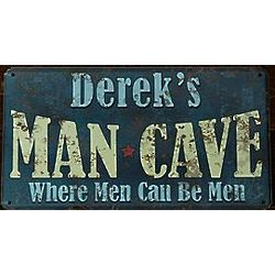 Personalized Man Cave Rustic Metal Sign