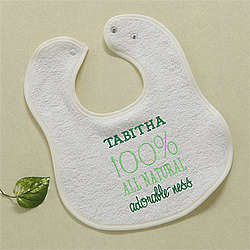 All Natural Adorable Personalized Organic Cotton Baby Bib