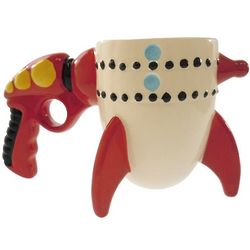 Retro Ray Gun Rocket Coffee Mug