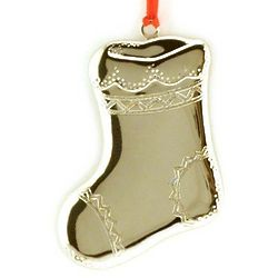 Engraved Gold Finish Stocking Ornament