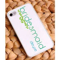 Personalized Lime Bridesmaid iPhone Case