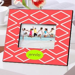 Personalized Geometric Coral Picture Frame