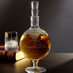 Genova Etched Whiskey Decanter