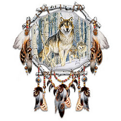 Spirit Seeker Wolf Art Dreamcatcher