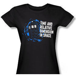 Junior's Doctor Who Time and Relative Dimension in Space T-Shirt